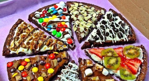 ♥ PIZZA DE BROWNIE ♥ (nutella  chocolate blanco)