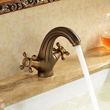 Customized Bathroom Sink Tap Antique Inspired Design - Antique Brass Finish Tap - Antique Taps
