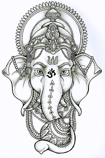 Master Of Intellect And Wisdom Sri Ganesh Is Revered As The Remover Of Obstacles The Patron Of Arts Sciences Letters A In 2020 Ganesha Tattoo Buddha Tattoos Tattoos
