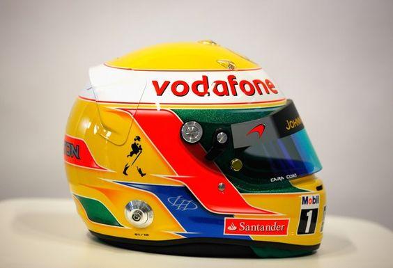 Lewis Hamilton's Helmet 2012