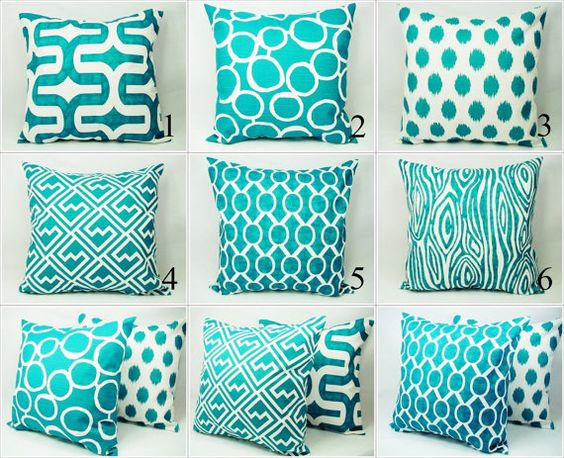 Teal Couch Pillow Covers Turquoise Pillow Covers