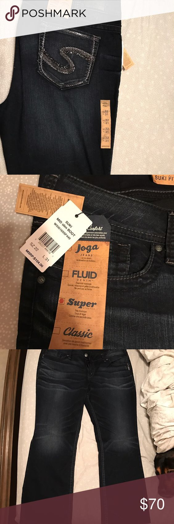 silver jeans suki boot cut. new with tags NWT | D, Tags and Silver