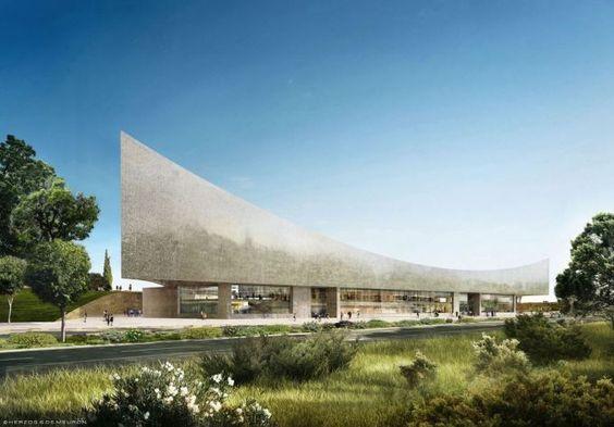 ヘルツォーク&ド・ムーロンの設計によるイスラエル国立図書館の画像 ...
