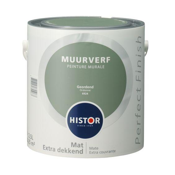 mooie kleur # Histor Perfect Finish muurverf geordend