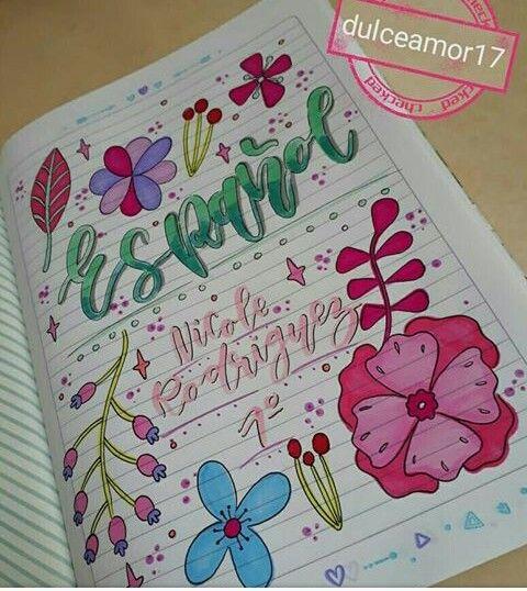 Carátulas Cuadernos Creativos Como Adornar Un Cuaderno Y