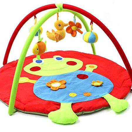 Baby Activity Gym And Play Mat Soft Animals Play Mat Gym Blanket Fitness Frame Cotton Crawling Mat Frog Activi Baby Plush Toys Best Baby Toys Baby Activity Gym