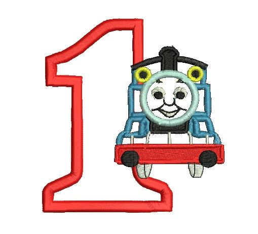 Thomas Applique Thomas Embroidery Train by MyIttyBittyDesigns, $2.99