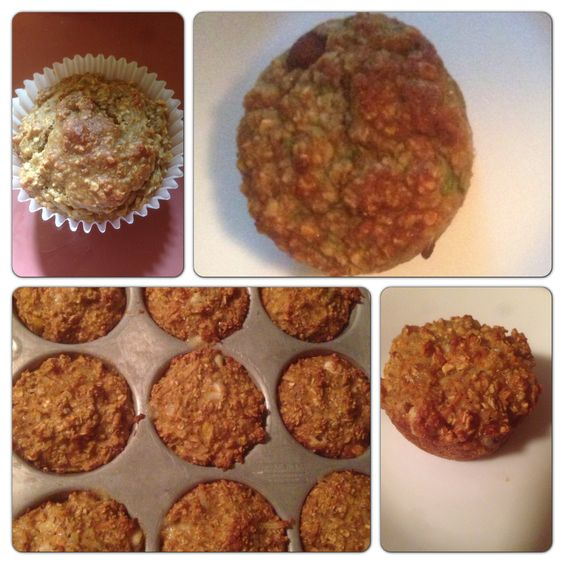 Healthy fruity oatmeal muffins 2 cups of oatmeal 1 little cup of ...