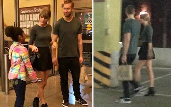 10 momentos em que Calvin Harris foi fofo com Taylor Swift  10. Quando ele acompanhou Tay nas compras e ainda combinou o look com ela:
