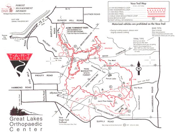 map of vasa trails mi   routes and maps go to wwwmapmyride