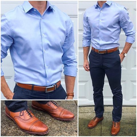 Love the matching belt and shoes combo -