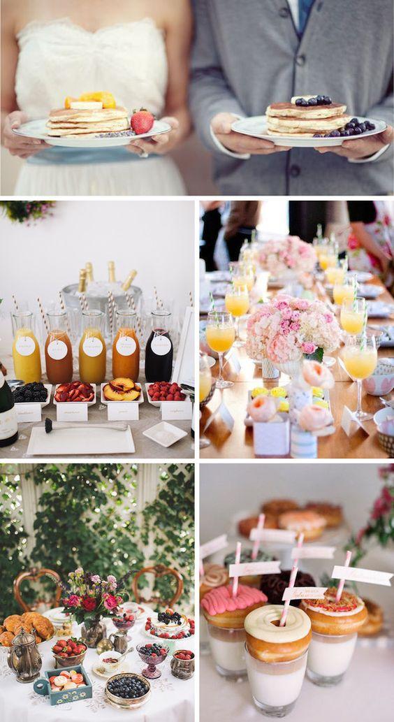 Le brunch le lendemain du mariage est l'occasion idéale pour prolonger les festivités dans une ambiance plus décontractée, autant pour les futurs mariés que pour les invités. Mais quelle thématique choisir ? Quel cadre ? Et surtout, que choisir pour manger ? Voici nos 5 idées...
