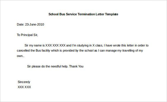 termination letter templates free sample example format - formal request letter