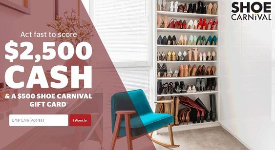 Quicken Loans Quikly Contest Win 2500 Cash Shopping Spree For Shoes Carnival Store Quicken Loans Loan Carnival Gift Card