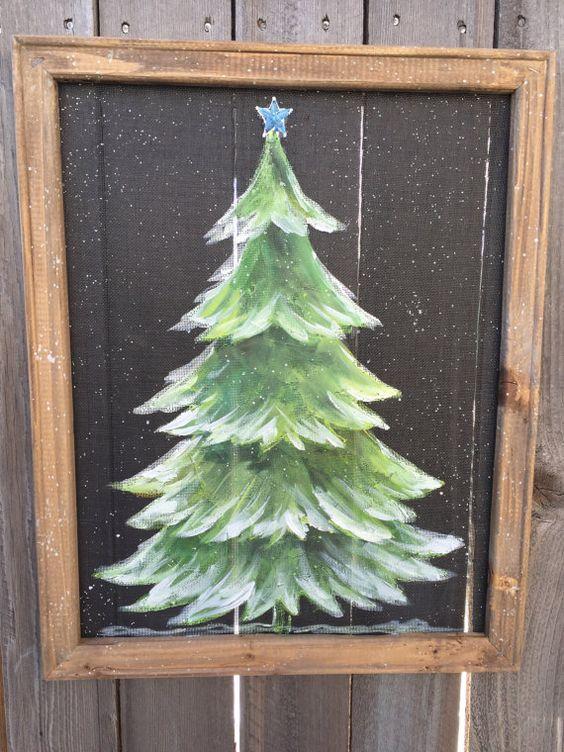 Pine Tree With Snow Rustic Pine Tree Pine Tree Outdoor