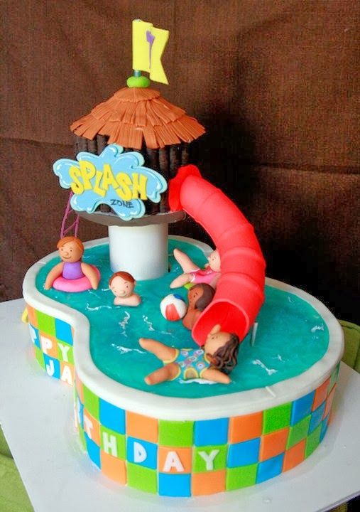 Water Park Pool Cake