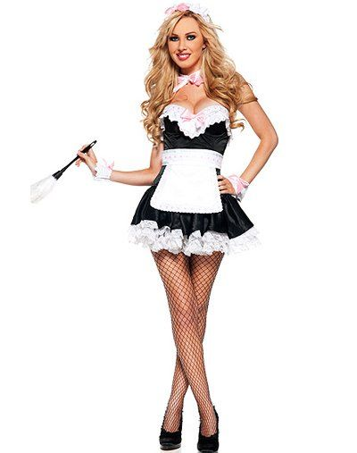 French maid girls kissing | Adult images)