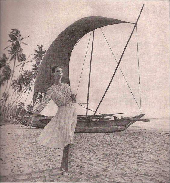 """Ruth Neuman, photo by Gleb Derujinsky, """"A Flying Odyssey of Fashion"""""""