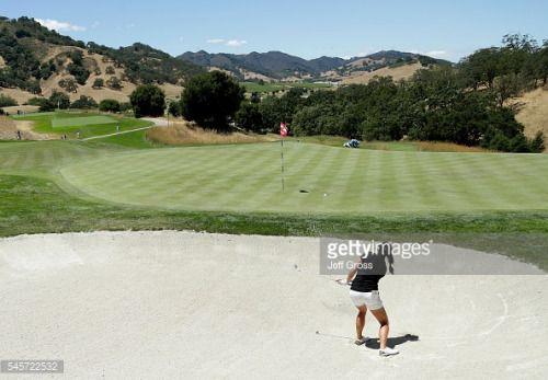 SAN MARTIN, CA - JULY 09: Gerina Piller plays a bunker shot to... #sangiovannibianco: SAN MARTIN, CA - JULY 09: Gerina… #sangiovannibianco