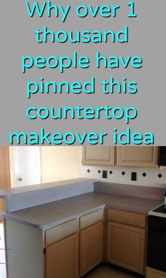 Why Over 1 Thousand People Have Pinned This Countertop Makeover