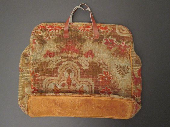 Antique Civil War Era Carpet Bag Textile Pattern