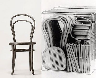 Chaise Thonet n°14, 1859. Chaise bistrot en kit.