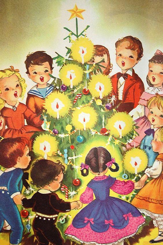 1950 Christmas Carols Music Book ~ Orange Details