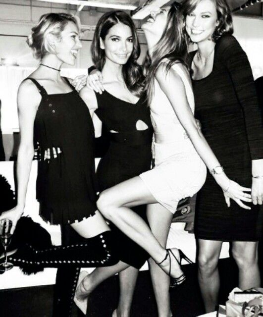Candice , Lily , Behati , Karlie