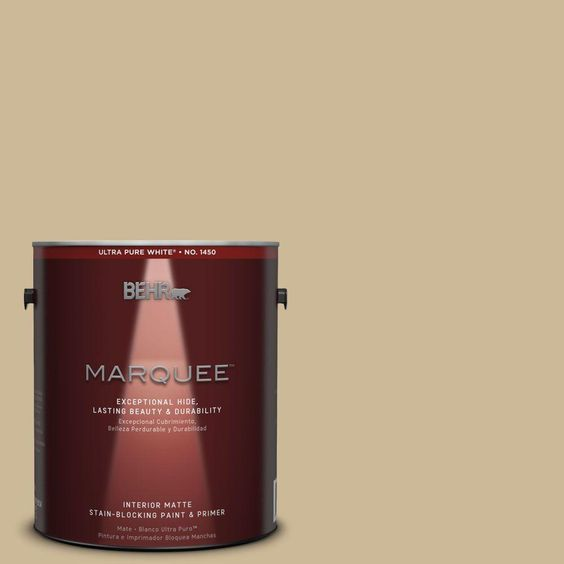 BEHR MARQUEE 1 gal. #MQ2-22 Hayloft One-Coat Hide Matte Interior Paint