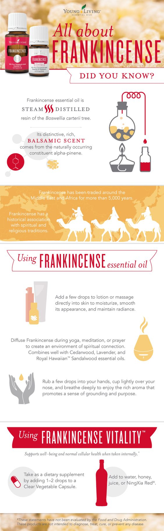 All about Frankincense essential oil ~ Young Living Essential Oils, infographic