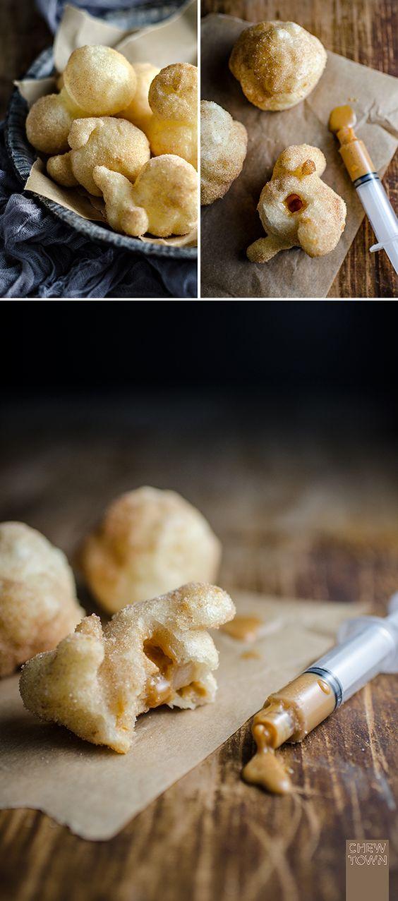 Cassava Puffs with Cinnamon Sugar and Caramel (Gluten Free) | Chew Town Food Blog