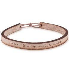 """""""she lives life in her own little fairytale"""" bracelet from Laurel Denise"""