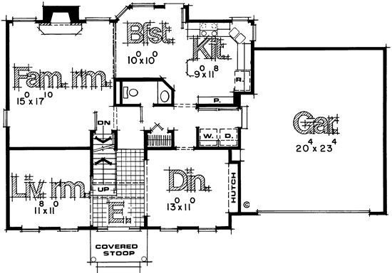 Montana Community Moves Forward With Plans For A Tiny: First Floor Plan Of Colonial House Plan 67959 Get Rid Of