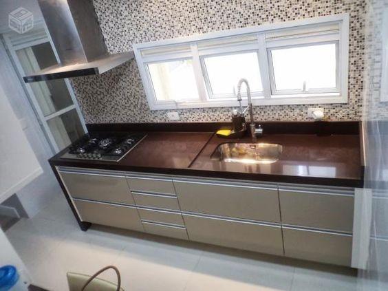 Bancada de cozinha granito marrom absoluto