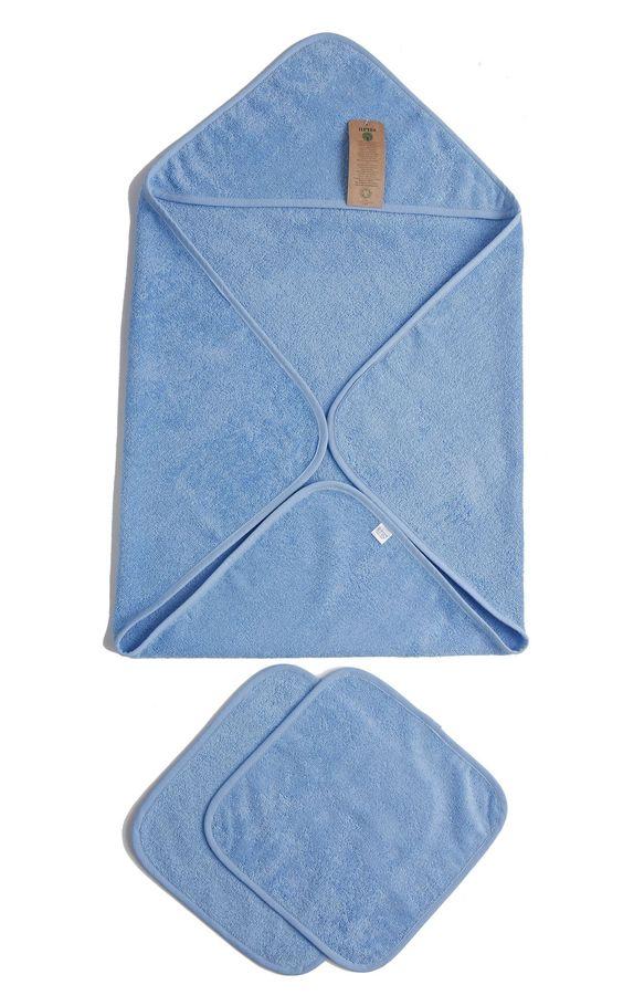 Baby Organic Turkish Cotton Terry Hooded Nursery 3 Piece Towel Set
