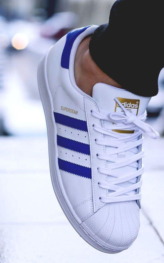 adidas superstar bleu blanche homme