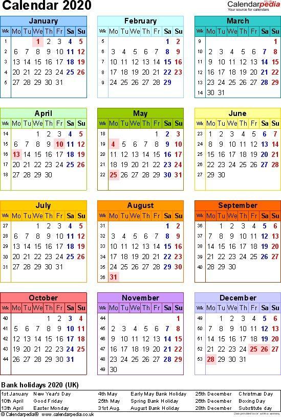 Unique A4 2020 Calendar Printable Dengan Gambar