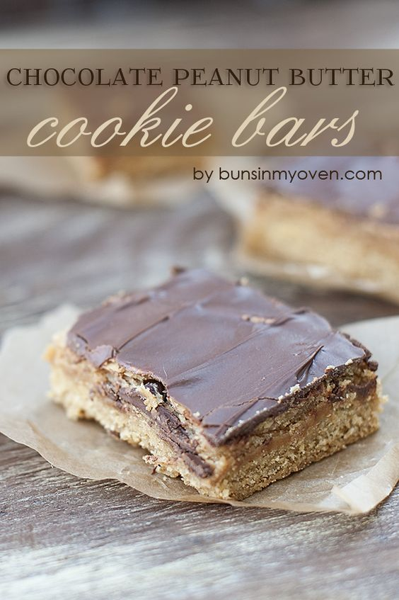 Peanut butter cookie bars, Chocolate peanut butter and Peanut butter ...