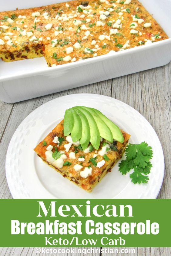 Keto Chorizo Mexican Breakfast Casserole