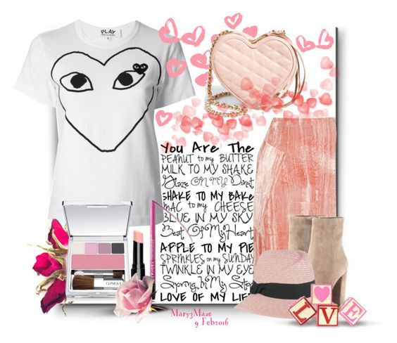 """You Are The Love Of My Life"" by octobermaze ❤ liked on Polyvore featuring Topshop Unique, Play Comme des Garçons, Rebecca Minkoff, Gianvito Rossi, Sephora Collection, Clinique, Burke Decor, women's clothing, women and female"