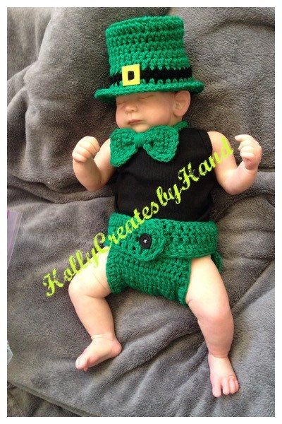 Crochet Baby St. Patrick's Day Outfit by HollyCreatesbyHand