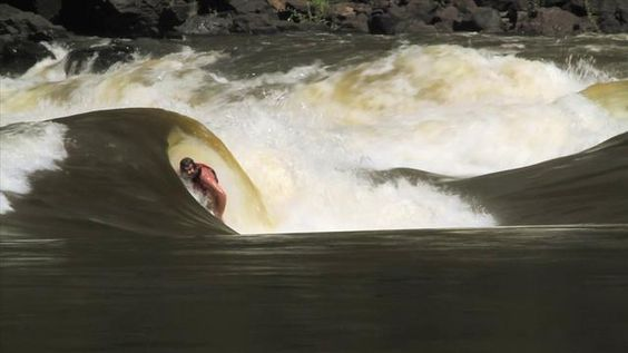 Vimeo Video: Crazy dude surfs a standing wave on the crocodile-infested Zambezi river #africa Via: http://www.theadrenalist.com/sports/surfing-a-standing-wave/