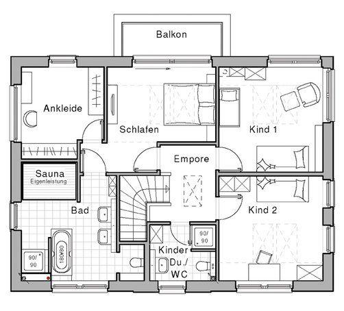 Bad Grundrisse Dachgeschoss :  grundriss wohnen grundriss stadtvilla grundriss bad mit sauna haus