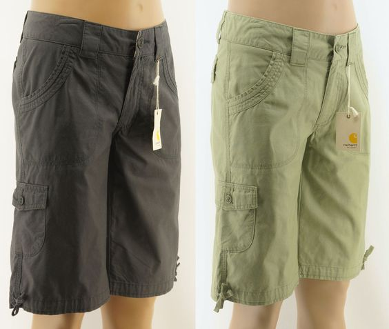 Details about Carhartt Womens Cargo Bermuda Shorts | Bermudas, The ...