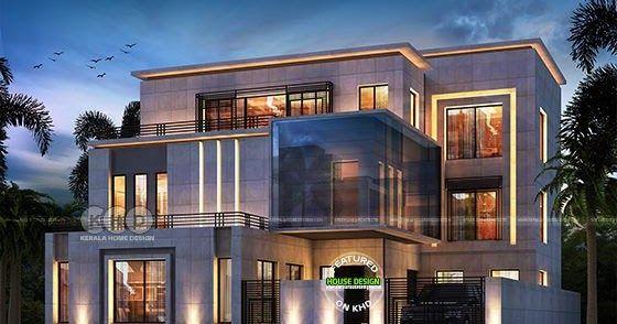 7 Bedroom Contemporary Home Design Plan In 2020 Contemporary House Design Kerala House Design Home Design Plan