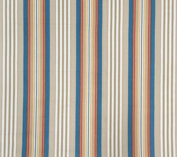 Vibrant vertical stripe with herringbone pattern. Wonderful multipurpose fabric for bedding, drapery & upholstery.