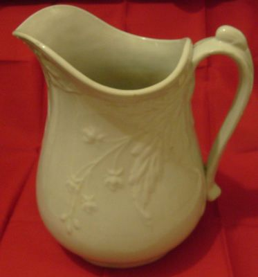 Antique Powell & Bishop Ironstone China Pottery Large Water Pitcher 1800s