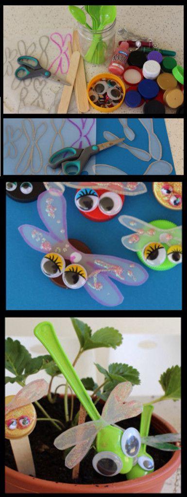Insectos con material recicladoManualidades sencillas