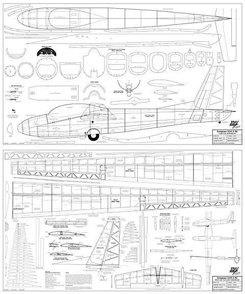 Schweizer Sgs 2 32 3 Seat Trainer 2 9m 114 Span Balsa Plywood Sailplane Plans And Patterns 2 36 X60 Sheets By Newprairiewoodworks On Etsy