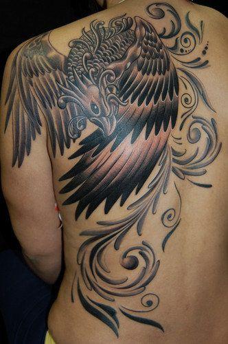 101 tatuagens com o p ssaro mitol gico f nix gray for Fenix tribal tattoo